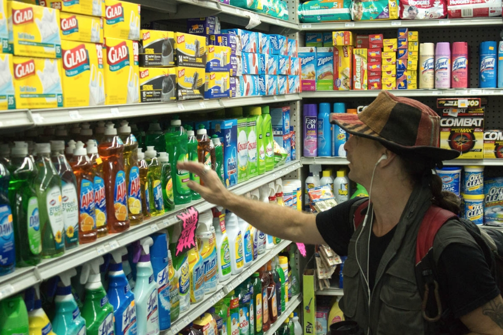 "In a convenience store on 72nd Street, Kocher selects the soap he'll use to bubble. He says he makes between $1,500 and $1,600 a month on average as a self-described ""bubbleologist"" in Central Park."
