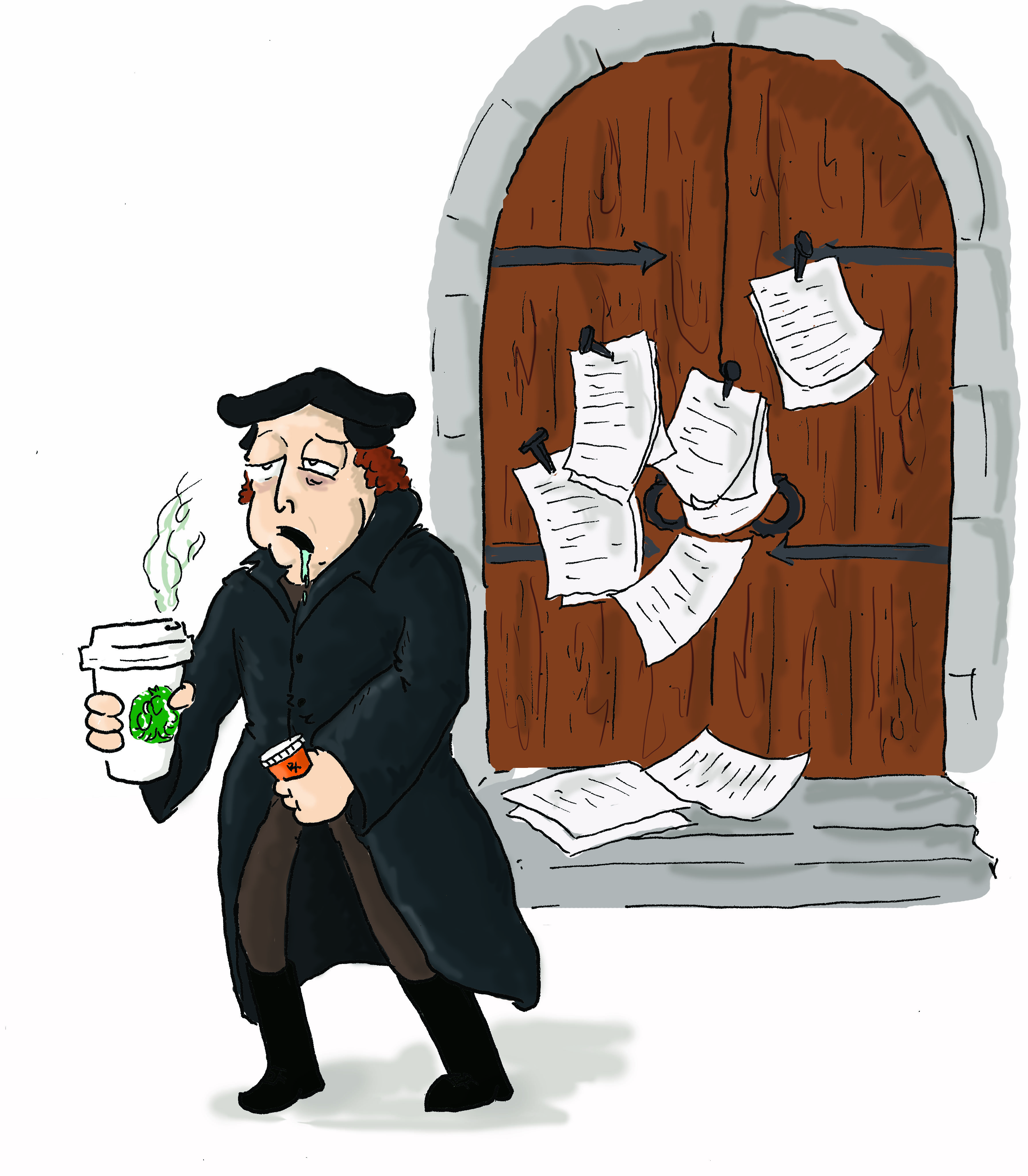 what happened to martin luther as a result of the 95 theses